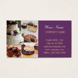 Modern dessert bread cafe bakery business card