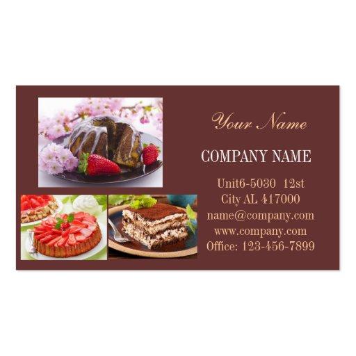Modern dessert bread cafe bakery business card templates