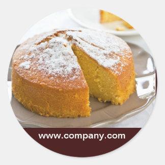 Modern dessert bread cafe bakery classic round sticker