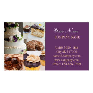 Modern dessert bread cafe bakery Double-Sided standard business cards (Pack of 100)