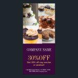 """Modern dessert cake cupcake baker bakery rack card<br><div class=""""desc"""">Modern dessert cake cupcake baker bakery business cards</div>"""