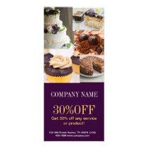 Modern dessert cake cupcake baker bakery rack card