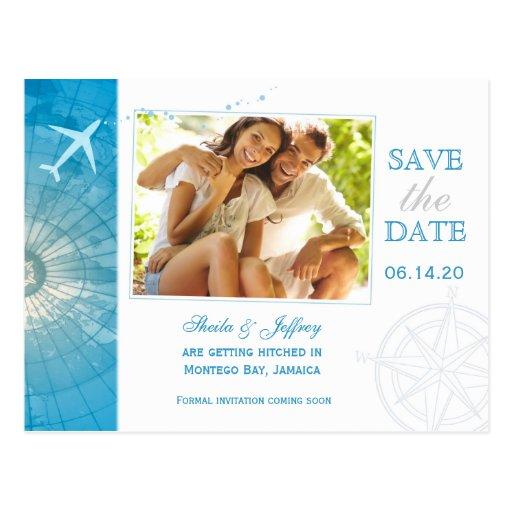 modern destination wedding save the date postcards zazzle