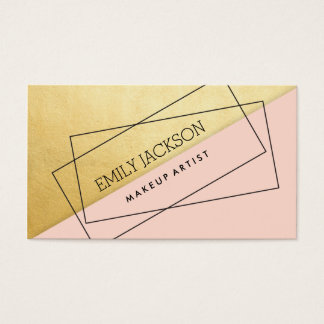 Modern Diagonal Graphic Business Card Pink