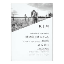 Modern Diagonal | Photo Wedding Invitation