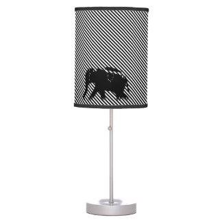 Modern Diagonal Stripes Jungle Elephants Lamps