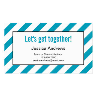 Modern Diagonals Mommy Card / Contact Card Double-Sided Standard Business Cards (Pack Of 100)