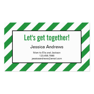 Modern Diagonals Mommy Card / Personal Calling Car Business Card Template
