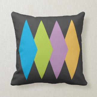 Modern Diamond Argyle Pattern Custom Color Throw Pillows