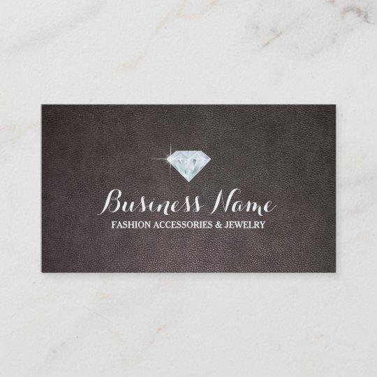Modern diamond leather background jewelry business card zazzle modern diamond leather background jewelry business card colourmoves