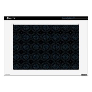 Modern Diamond Pattern Black & Blue Laptop Skin