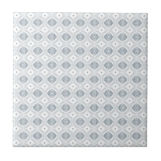 Modern Diamond Pattern Blue White Accent Tile
