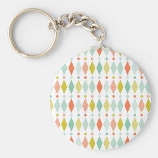 Modern Diamond pattern Keychain