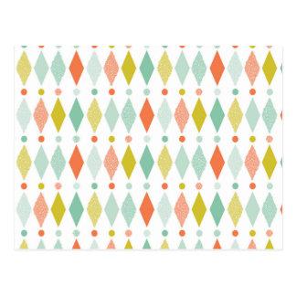 Modern Diamond pattern Postcard
