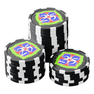 Modern different pattern poker chips