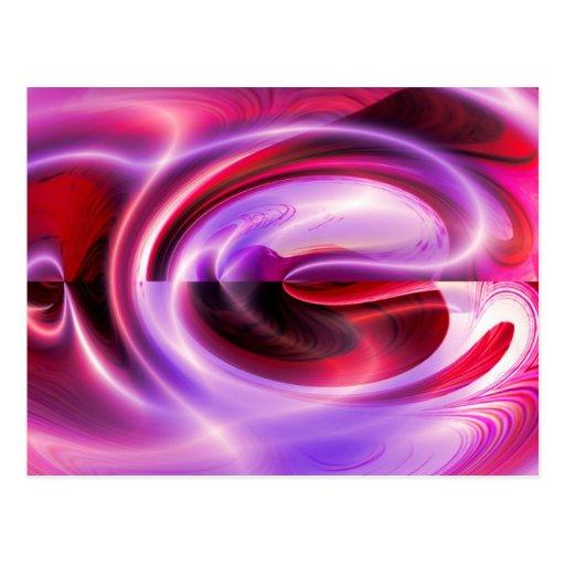 Modern Digital Abstract Post Card