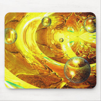 Modern Digital Abstract Spheres Mouse Pad