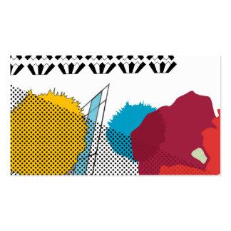 Modern digital art collage business card