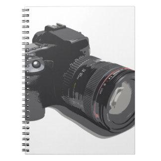 Modern Digital Camera Spiral Notebook