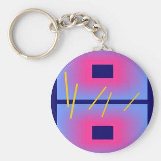 Modern Digital painting Basic Round Button Keychain