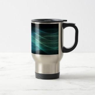 Modern Digital Soundwave Futuristic Abstract Coffee Mugs