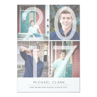 Modern Digits by Origami Prints Grad Announcement
