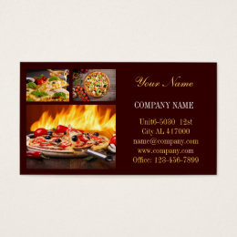 Shop food service business cards templates zazzle modern diner catering deli shop food service business card colourmoves Choice Image