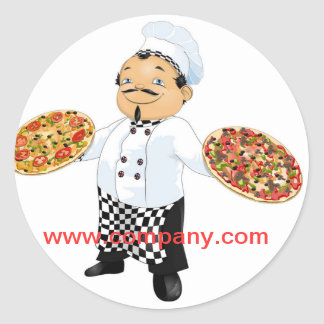 Modern diner catering deli shop food service classic round sticker
