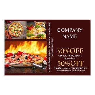 Modern diner catering deli shop food service flyer