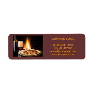 Modern diner catering deli shop food service label