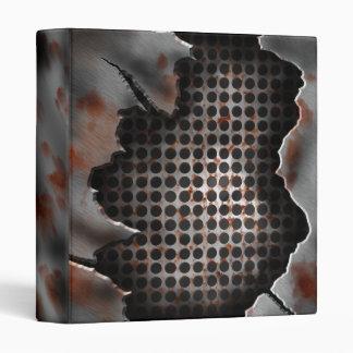 Modern Distressed Metal Rusty Grate Binder
