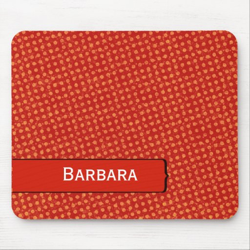 Modern Distressed Polka Dots Mouse Pad