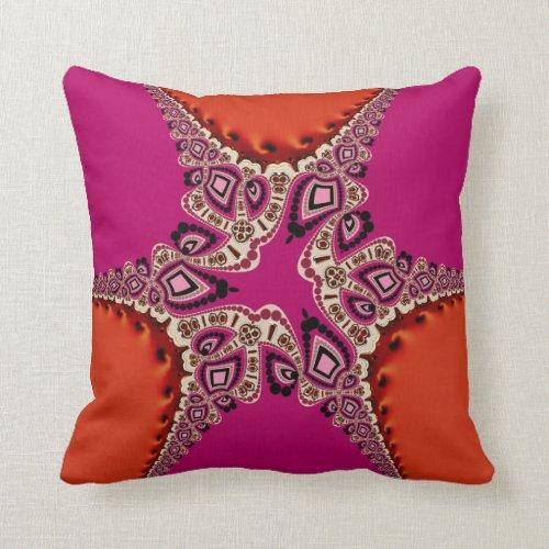 Modern Diva Pink Orange Cushion Pillow