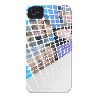 Modern Diversity People and Faces Collage iPhone 4 Case-Mate Cases