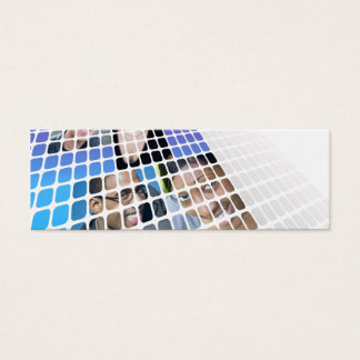 Modern Diversity People and Faces Collage Mini Business Card