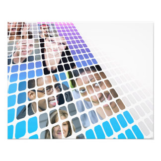 Modern Diversity People and Faces Collage Photo Print