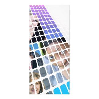 Modern Diversity People and Faces Collage Rack Card Design