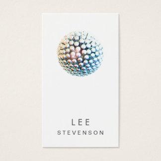 Modern DJ Cool White Futuristic Business Card
