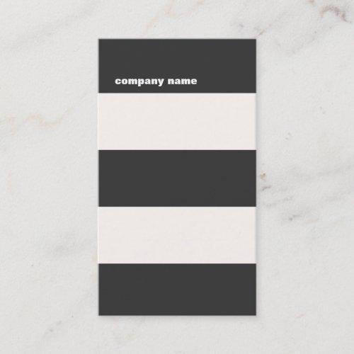 Modern DJ Hip Bold Striped Professional Business Card