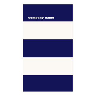 Modern DJ Hip Navy Blue and White Stripes Double-Sided Standard Business Cards (Pack Of 100)