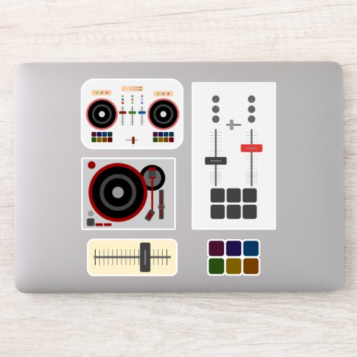 Modern DJ Music Laptop Sticker