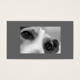 Modern Dog Eyes and Paw Business Card