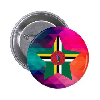 Modern Dominica Flag 2 Inch Round Button