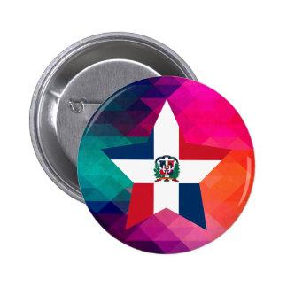 Modern Dominican Republic Flag 2 Inch Round Button