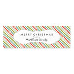 Modern Dot Christmas Gift Tag / party favor tag Double-Sided Mini Business Cards (Pack Of 20)