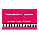 Modern Dots Business Card, Bright Pink