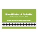 Modern Dots Business Card, Light Green