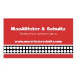 Modern Dots Business Card, Red