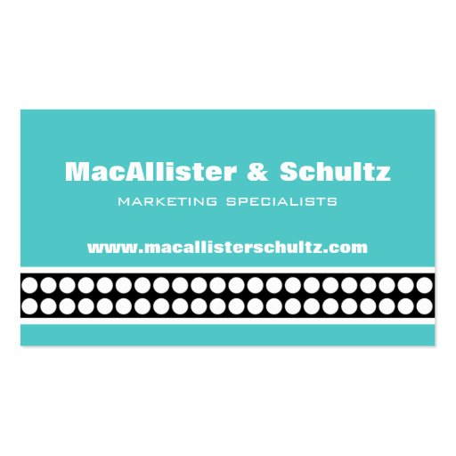 Modern Dots Business Card, Turquoise
