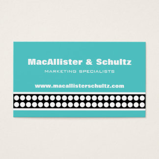 Modern Dots Business Card, Turquoise Business Card